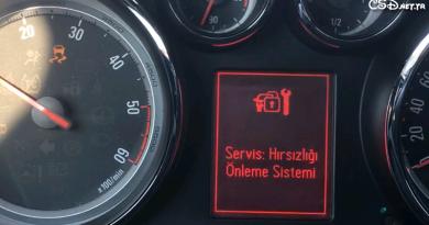 Opel Astra J Hırsızlık Teşebbüsü Uyarısı